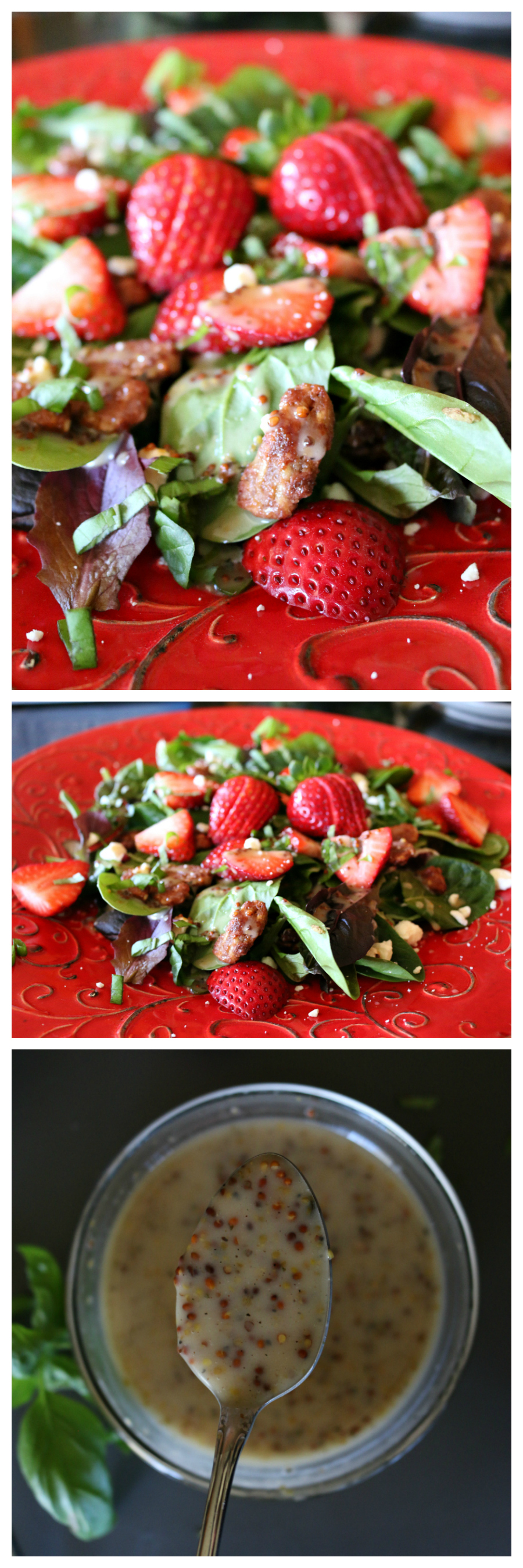 Strawberry Spinach Salad with Honey Dijon Mustard Dressing
