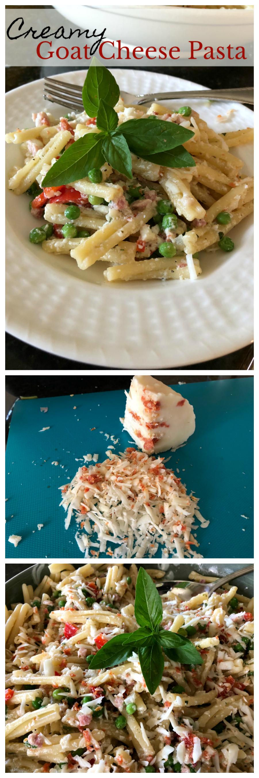 Creamy Goat Cheese Pasta CeceliasGoodStuff.com   Good Food for Good People