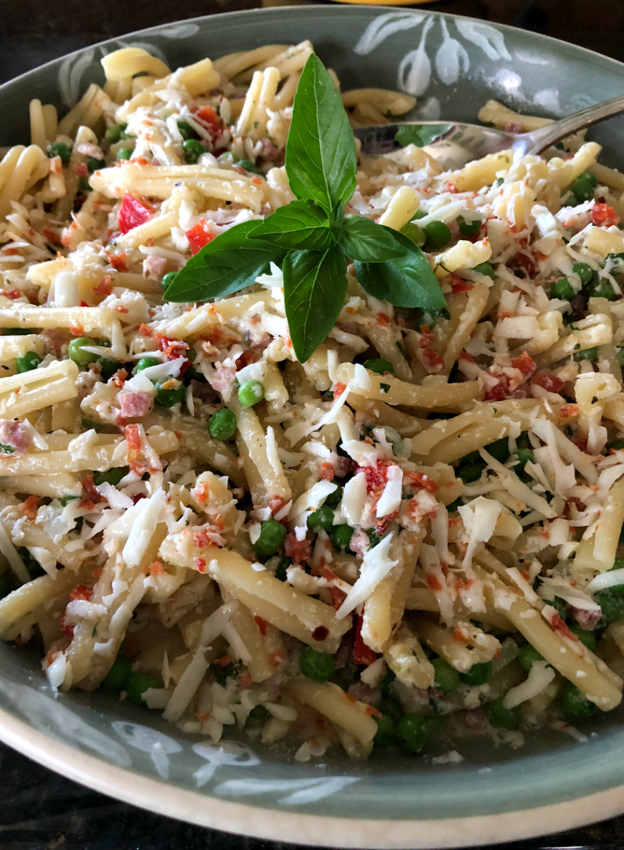 Creamy Goat Cheese Pasta CeceliasGoodStuff.com | Good Food for Good People