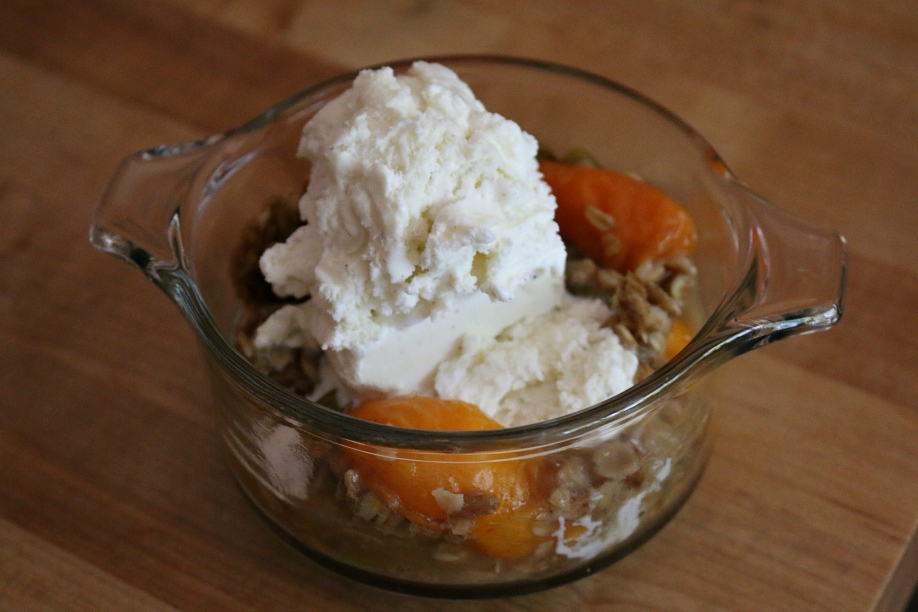 Rhubarb Apricot Crisp CeceliasGoodStuff.com Good Food for Good People