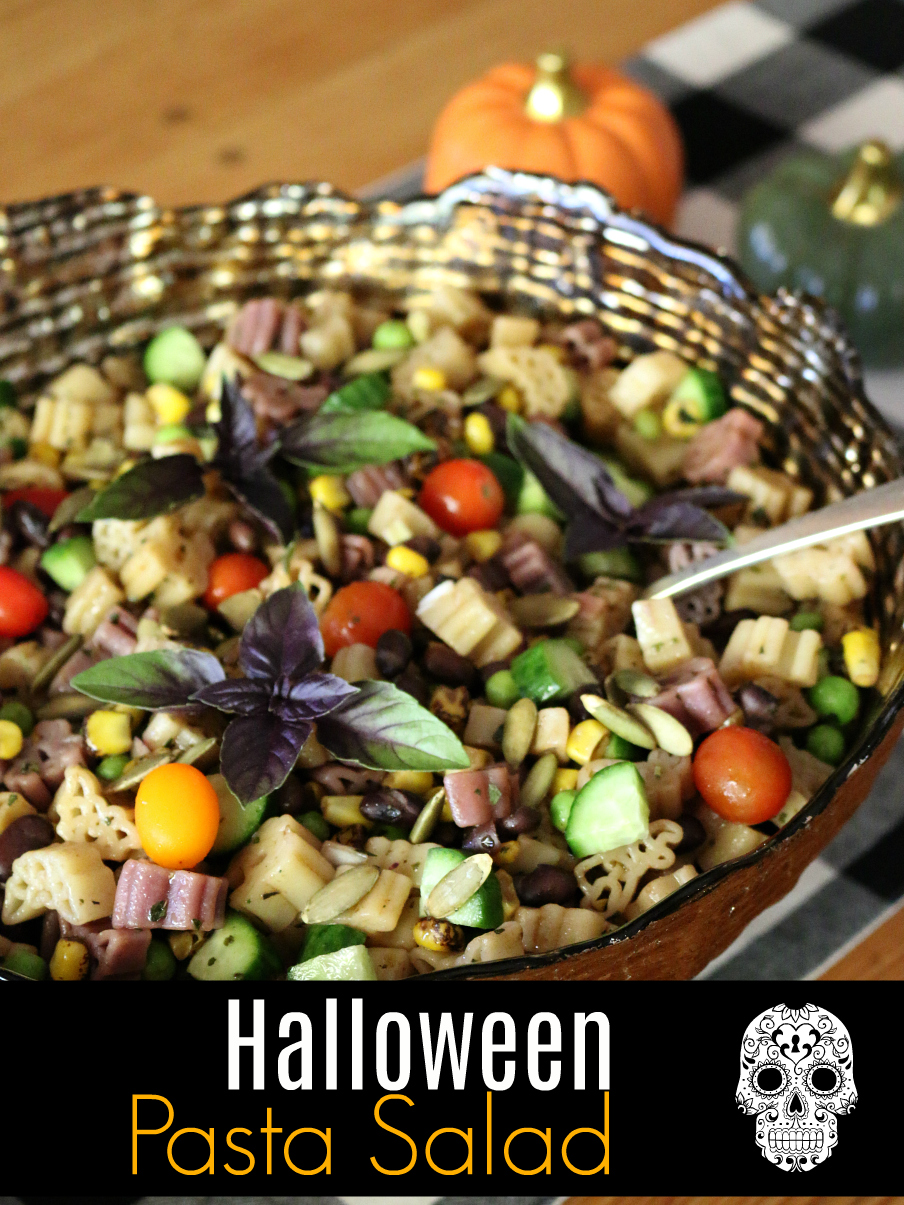 Halloween Pasta Salad CeceliasGoodStuff.com | Good Food for Good People