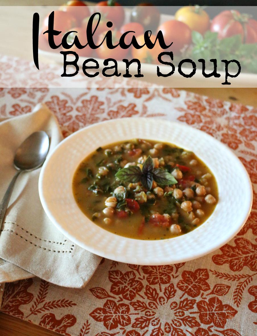 Italian Bean Soup CeceliasGoodStuff.com