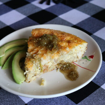 Green Chile Chicken Frittata