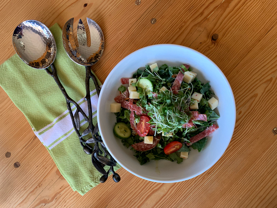An Italian Kale Salad with Lemon Dressing