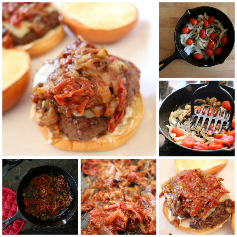 Tomato Onion Jam Collage