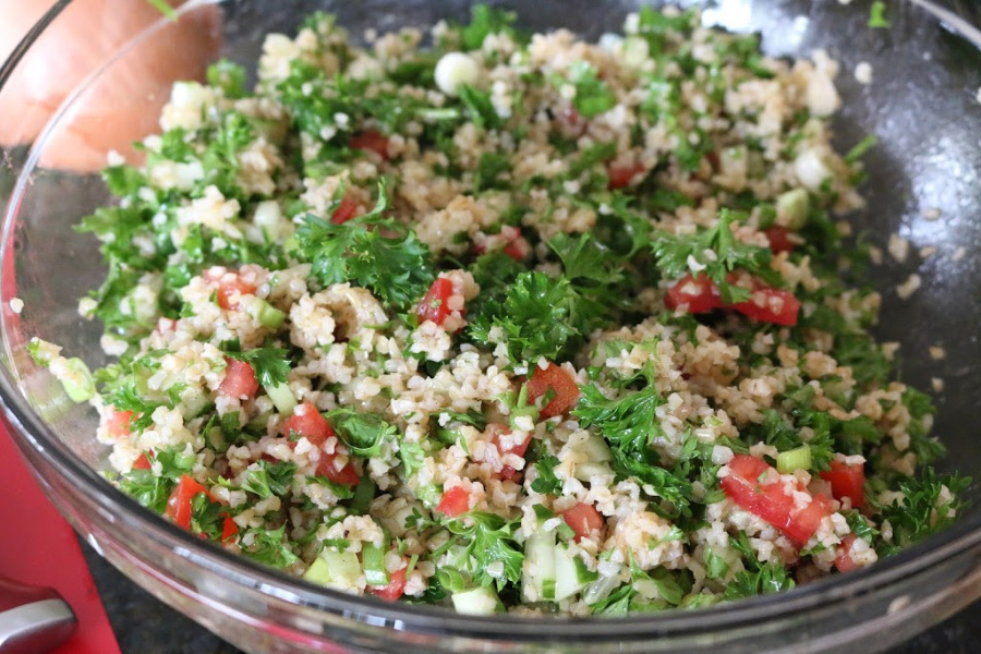 Traditional Lebanese Tabbouleh Salad