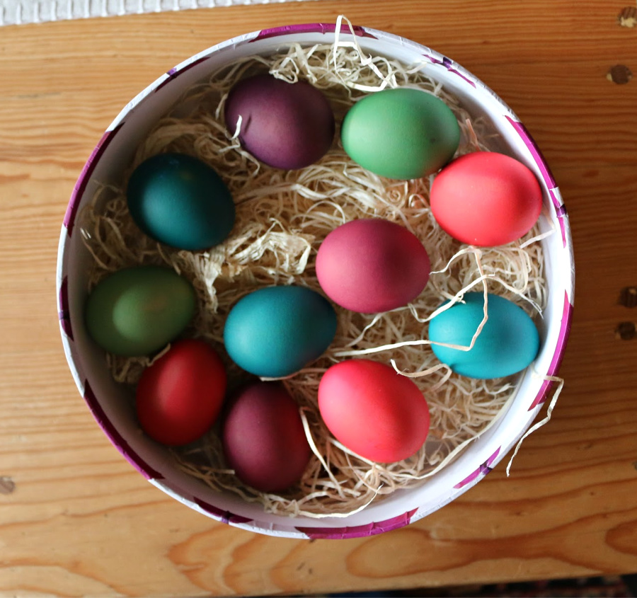 Katherine's colorful Easter Eggs