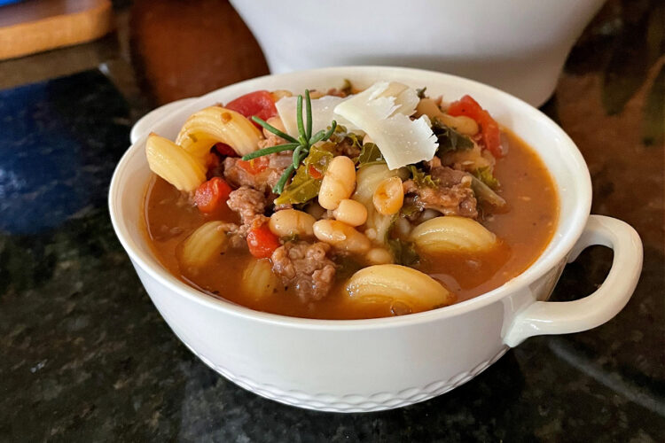 Rustic Italian Sausage and White Bean Soup